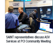SAINT table at event